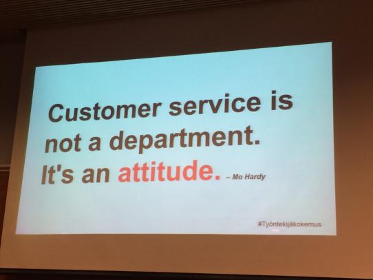 customer service is not a department it's an attitude