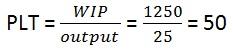 processi aziendali e Process Lead Time (PLT) o legge di Little: formula ed esempio